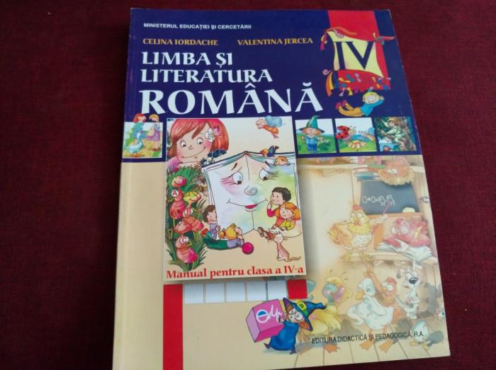 LIMBA ȘI LITERATURA ROMÂNĂ CLASA A IV-A - CELINA IORDACHE, VALENTINA JERCEA foto mare