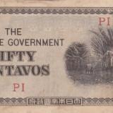 OCUPATIA JAPONEZA IN FILIPINE 50 centavos 1942 VF!!! - bancnota asia