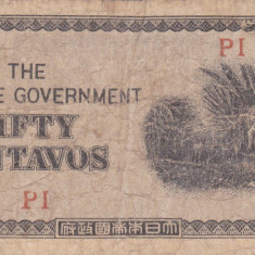 OCUPATIA JAPONEZA IN FILIPINE 50 centavos 1942 F!!! - bancnota asia