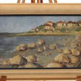 Pictură în ulei de A. Ioniță (nesemnat) - peisaj marin - Pictor roman, Peisaje, Realism