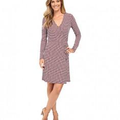 Michael Kors Esher Matte Jersey Wrap Dress Shore Blue