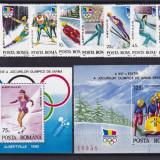 ROMANIA 1992 LP1274 LP 1275 LP 1276 ALBERTVILLE SERIE+COLITA DANT.SI NED. MNH - Timbre Romania, Nestampilat