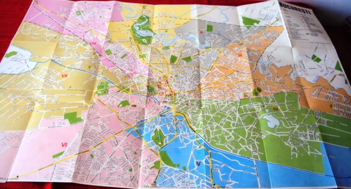 Harta  BUCURESTI   ANII  ,60 foto mare