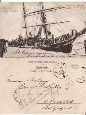 Braila -Emigranti evrei spre America-clasica, RR foto