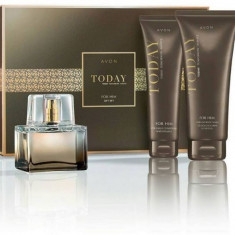 Apa de toaleta Today for men + gel dus+ balsam dupa ras AVON - Parfum barbati Avon, 75 ml, Lemnos