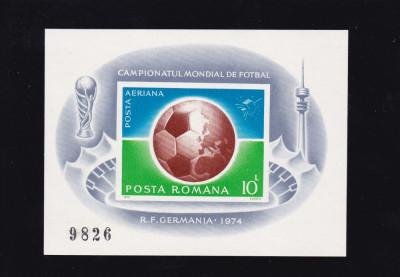 ROMANIA 1974, LP 853 CAMPIONATUL DE FOTBAL COLITA NEDANTELATA MNH foto