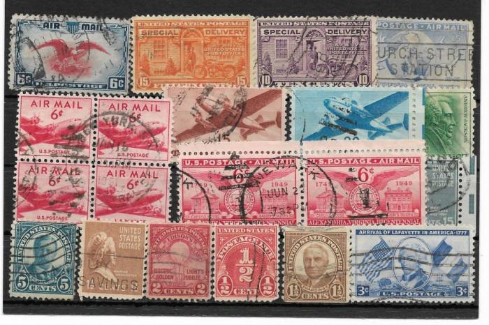 Lot timbre SUA foto mare