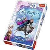 Puzzle Frozen 100pcs - Salvarea Elsei 16273 Trefl