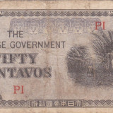 OCUPATIA JAPONEZA IN FILIPINE 50 centavos 1942 VF-!!! - bancnota asia
