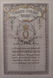 Timbru fiscal/cultura - Fundatiile Culturale Regale - Brun - Carol II, Stampilat