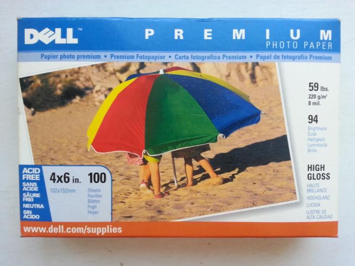 SET 100 coli Hartie Foto DELL Premium High Gloss 4x6 inch foto mare