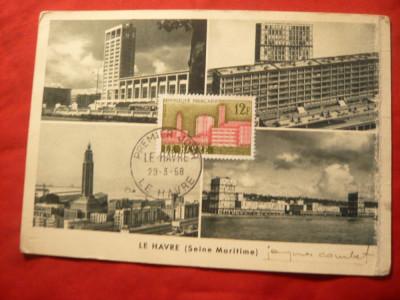 Maxima - Orasul Le Havre 1958 , cu stampila Prima Zi foto