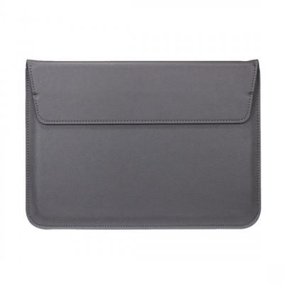 Husa plic universala din piele ecologica pentru Macbook/Laptopuri 13 inch, gri foto