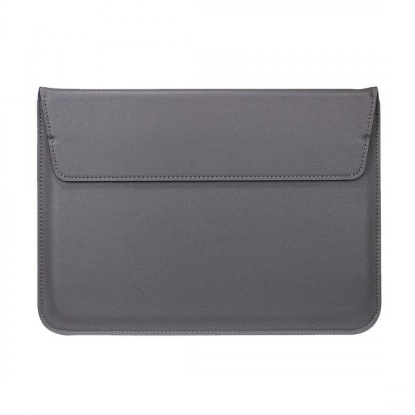 Husa plic universala din piele ecologica pentru Macbook/Laptopuri 13 inch, gri foto mare