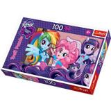 Puzzle 100 pcs My Little pony Equestria Girl dupa scoala 16253 Trefl