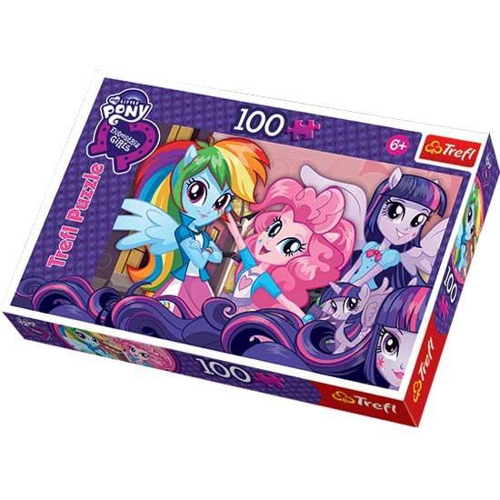 Puzzle 100 pcs My Little pony Equestria Girl dupa scoala 16253 Trefl foto mare