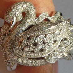 Inel dama, aur alb de 18 K ; 14, 7 grame ; diamante ; 2, 55 carate, marcat - Inel diamant