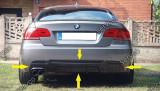 Prelungire difuzor evacuare tuning bara spate BMW E92 E93 320 Mtech Aero v1