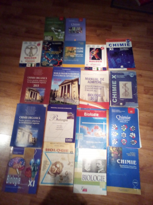Grile chimie ,biologie admitere medicina,culegeri,manuale foto mare