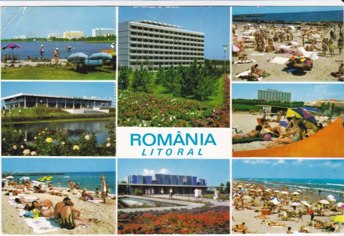 CARTE POSTALA , LITORAL , ROMANIA LITORAL , 1970 foto mare