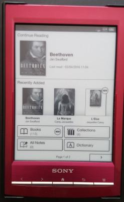 Ebook reader Sony PRS-T1, cu incarcator si huse de calitate foto