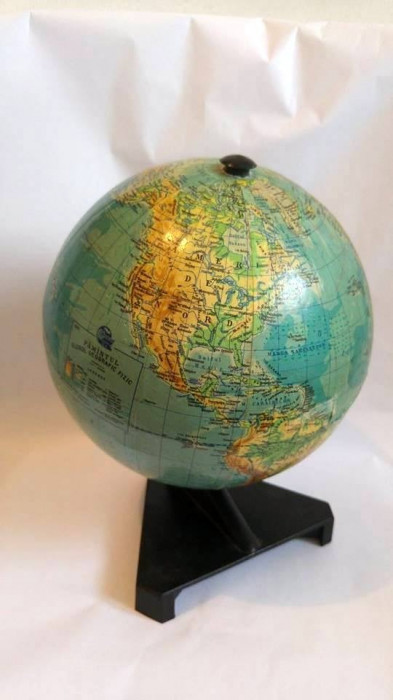 Glob pamantesc Tipocart Brasov SA 1995,  Diametru 20 cm foto mare