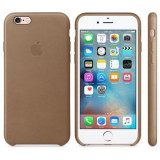Capac protectie spate Apple Leather Case Premium Brown pentru iPhone 6s - Husa Telefon