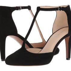 Nine West Halinan Black Suede - Pantof dama Nine West, Culoare: Negru, Marime: 36.5, Cu toc
