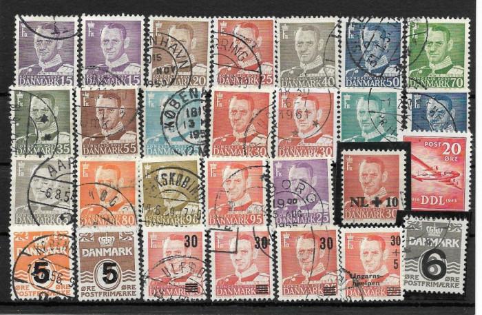 Lot timbre Danemarca foto mare