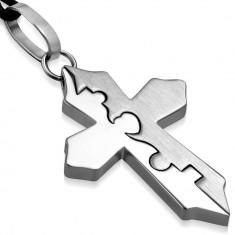 Colier tribal Geometric Cross B2635 - Colier inox