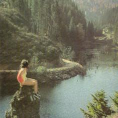 CARTE POSTALA LACUL ROSU 1968