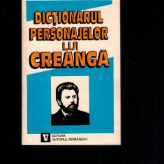 Valeriu Cristea, dictionarul personajelor lui Creanga - Studiu literar