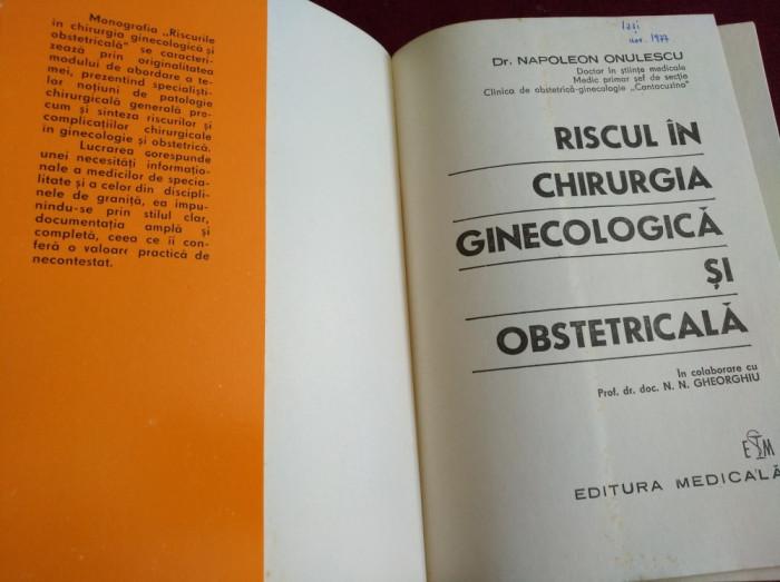 RISCUL ÎN CHIRURGIA GINECOLOGICĂ ȘI OBSTETRICALĂ foto mare