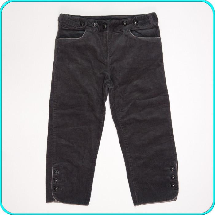 DE FIRMA → Pantaloni ¾ dama, catifea reiata, moderni, LA REDOUTE → femei | m. 38 foto mare