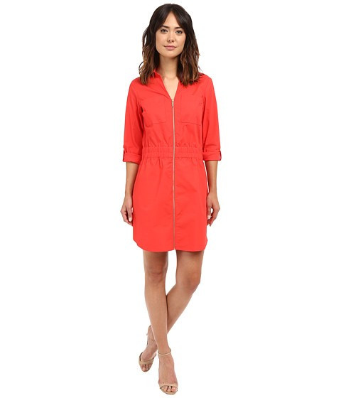 Michael Kors Zip Dring Dress Coral Reef foto mare
