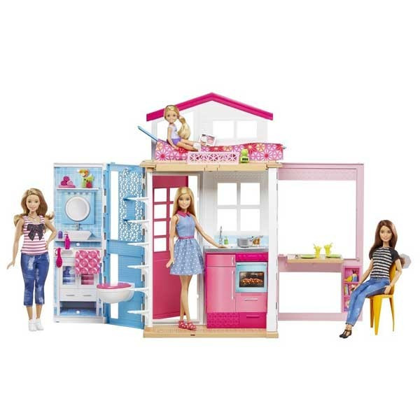 Jucarie Casa Barbie Close and Go 2 Story Barbie DVV48 Mattel foto mare