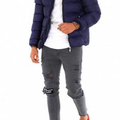 Geaca iarna bleumarin - geaca barbati - geaca slim fit COLECTIE NOUA 9117 L6, Marime: XL, Culoare: Din imagine