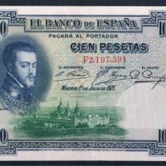 BANCNOTE de colectie SPANIA 100 Pesetas 1925, Europa