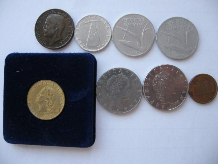 Italia lot (2) - 8 monede moderne foto mare