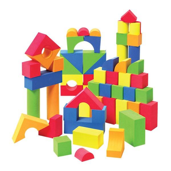 Set constructii , cuburi din burete 46 piese foto mare