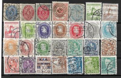 Lot timbre Danemarca foto