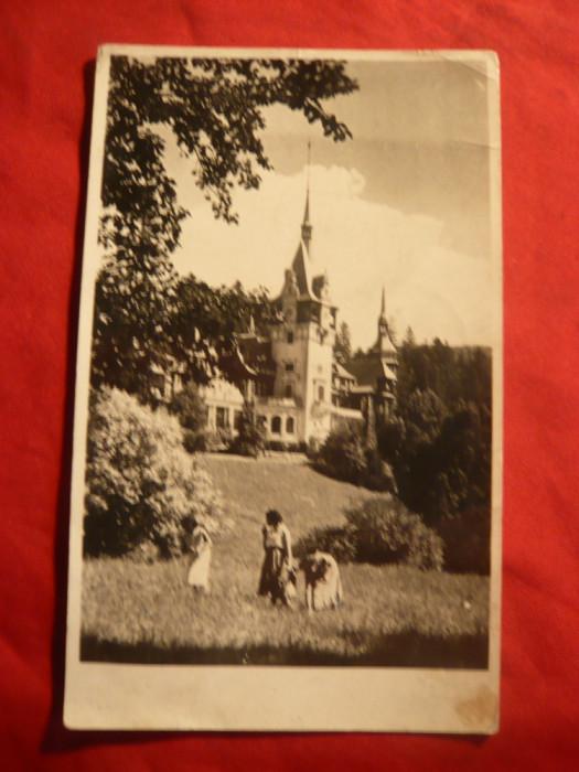 Ilustrata Sinaia - Castelul Peles 1955 foto mare