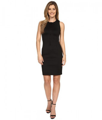 Michael Kors Scuba Panel Zip Dress Black foto