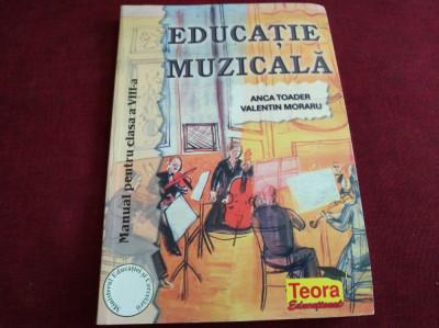 EDUCAȚIE MUZICALĂ CLASA A VIII-A - ANCATOADER , VALENTIN MORARU foto