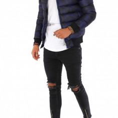 Geaca iarna albastra - geaca barbati 9143, Marime: S, M, L, XL, Culoare: Din imagine