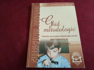 GHID METODOLOGIC MATEMATICĂ PRIMAR-GIMNAZIU foto