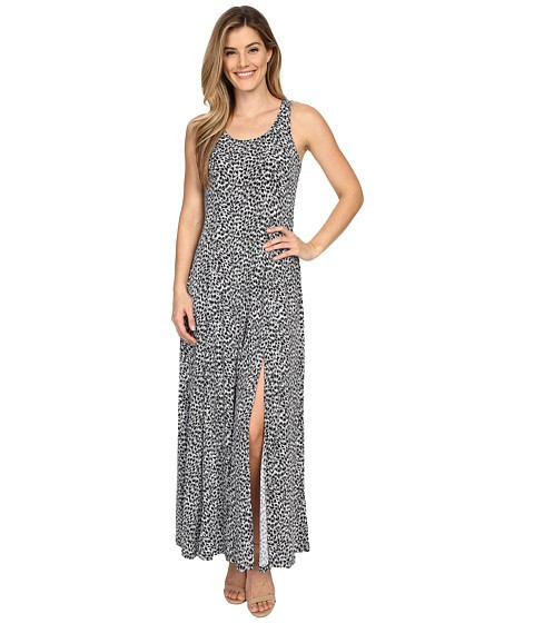 Michael Kors Abstract Maxi Dress Black foto mare