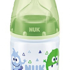 Biberon cu tetina din silicon-Nuk First Choice+ 0-6 luni 150 ml 743651V, Verde