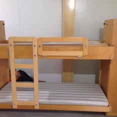 Paturi supraetajate din lemn masiv, pat suprapus - Pat dormitor