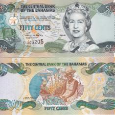 Bahamas 50 Centi 2001 UNC - bancnota america